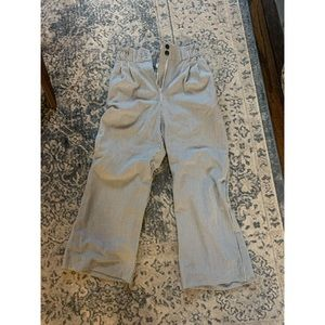 NWT - H&M CROPPED SEERSUCKER PANTS - SIZE 4